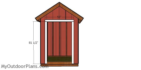 Door Jambs - 6x4 shed