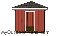 Door jambs - 10x10 shed with a hip roof