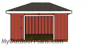 Door jambs - 10x16 hip roof shed