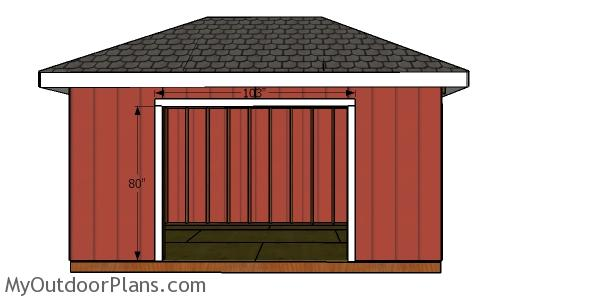 Door jambs - 10x16 hip roof shed