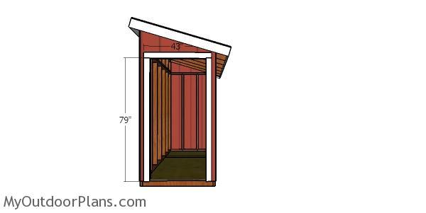 Door jambs - 4x12 shed