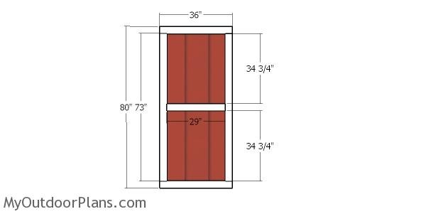 Double doors - 12x16 shed