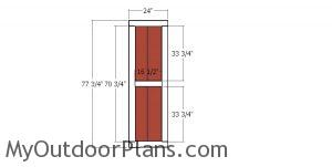 Double doors - 6x4 shed
