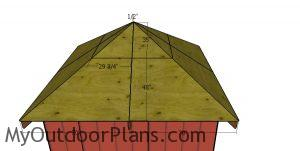 Fit the roof sheets to the 10x10 shed