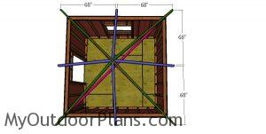 Fitting the common rafters - 10x10 hip roof shed