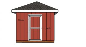 Building a Door for a 10×10 Hip Roof