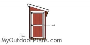 Fitting the door - 4x12 lean to shed