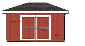 Building Double Doors for 10×16 Hip Roof Shed