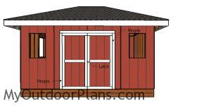 Fitting the double doors - 12x16 Storage Shed