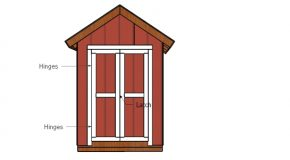 6×4 Shed Double Doors Plans