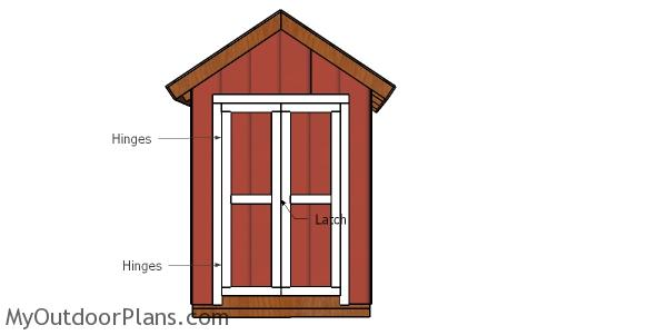 Fitting the double doors - 6x4 shed