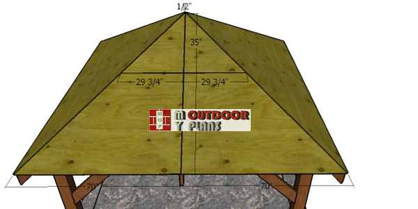 Fitting-the-gazebo-roof-sheets