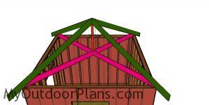 Fitting the king post - 10x10 hip roof shed