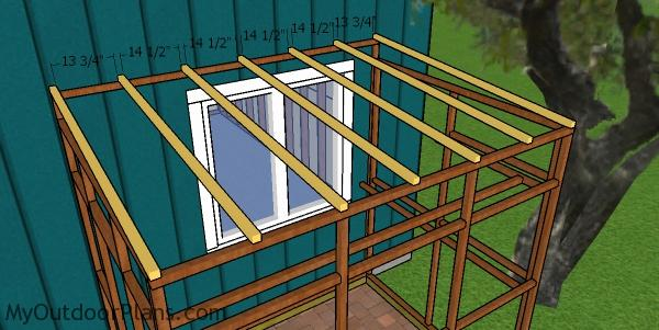 Fitting the rafters - 6x8 catio