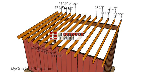 Fitting-the-rafters-to-the-lean-to-run-in-shed