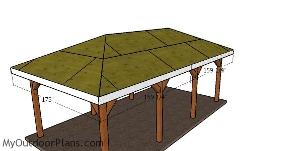 Fitting the roof trims - single carport plans