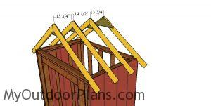 Fitting the roof trusses