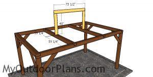 Fitting the top ridge - 10x16 hip roof gazebo