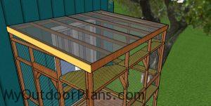 Fitting the top trims to the catio roof