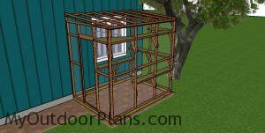 Fitting the wire to the catio frame