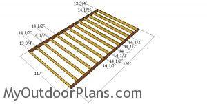 Floor frame - 10x16 shed