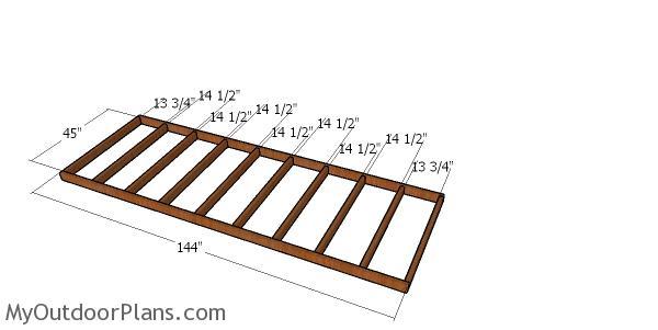 Floor frame - 4x12 shed