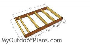 Floor frame - 6x4 garden shed