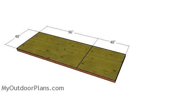 Floor sheet - 4x12 shed