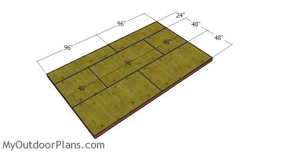 Floor sheets - 10x16 garden shed