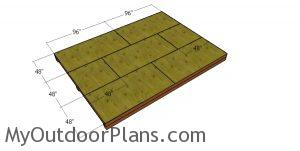 Floor sheets - 12x16 garden shed