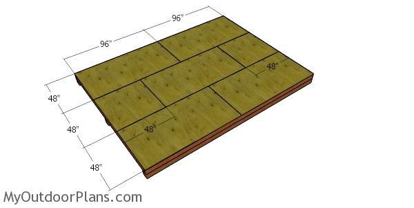 Floor sheets - 12x16 garden shed