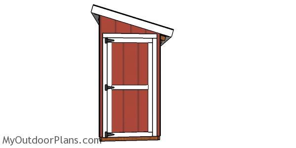 4x12 Shed Door Plans