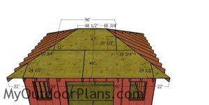 Front and Back Roof Sheets - 12x16 Hip Roof Shed