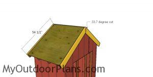 Front and back roof trims - 6x4 shed