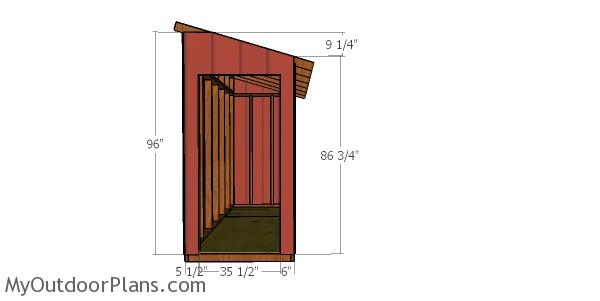 Front wall - 4x12 lean to shed