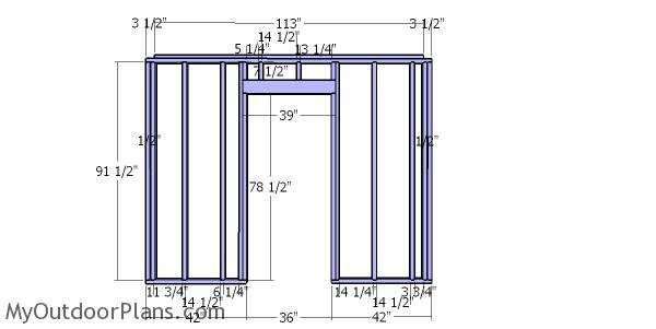 Front wall frame - 10x10 shed