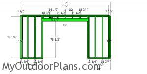 Front wall frame - 10x16 shed
