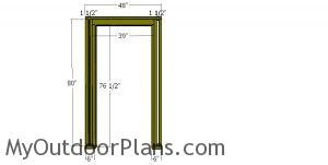 Front wall frame - 4x12 shed
