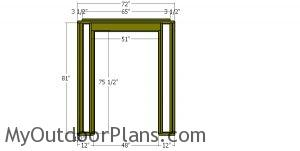Front wall frame - 6x4 shed