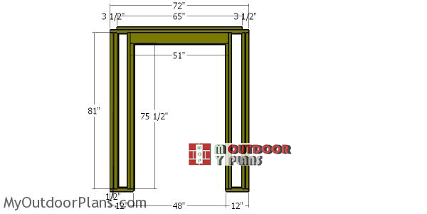 Front-wall-frame---6x4-shed