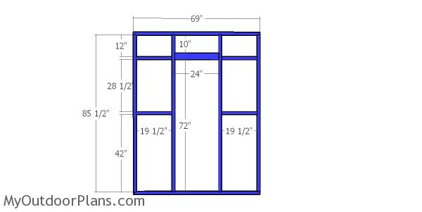 Front wall frame - 6x8 catio