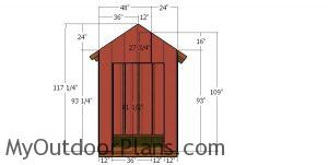 Front wall sheets - 6x4 gable shed