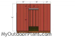 Front wall siding sheets - 10x10 hip roof shed
