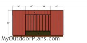 Front wall siding sheets - 10x16 shed
