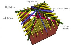10×10 Hip Roof Shed Plans