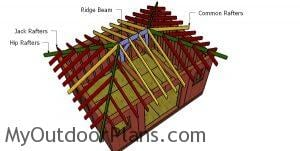 Hip Roof Shed Construction