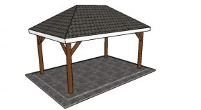 Simple 10×16 Rectangular Gazebo Plans
