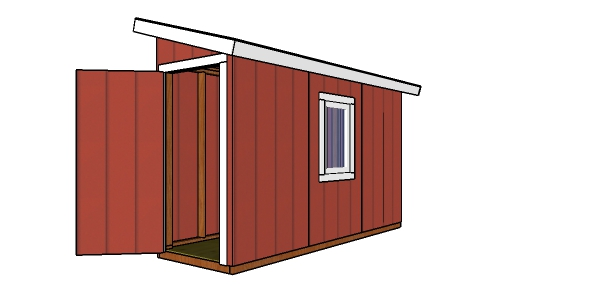 How to build a 4x12 lean to shed