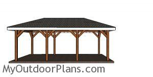 How to build a carport with a hip roof