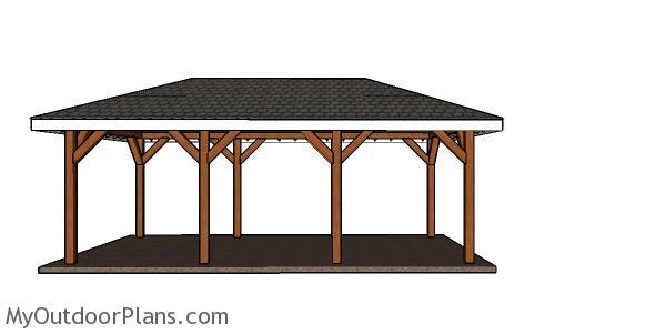 12x24 Carport Hip Roof Plans | MyOutdoorPlans | Free Woodworking